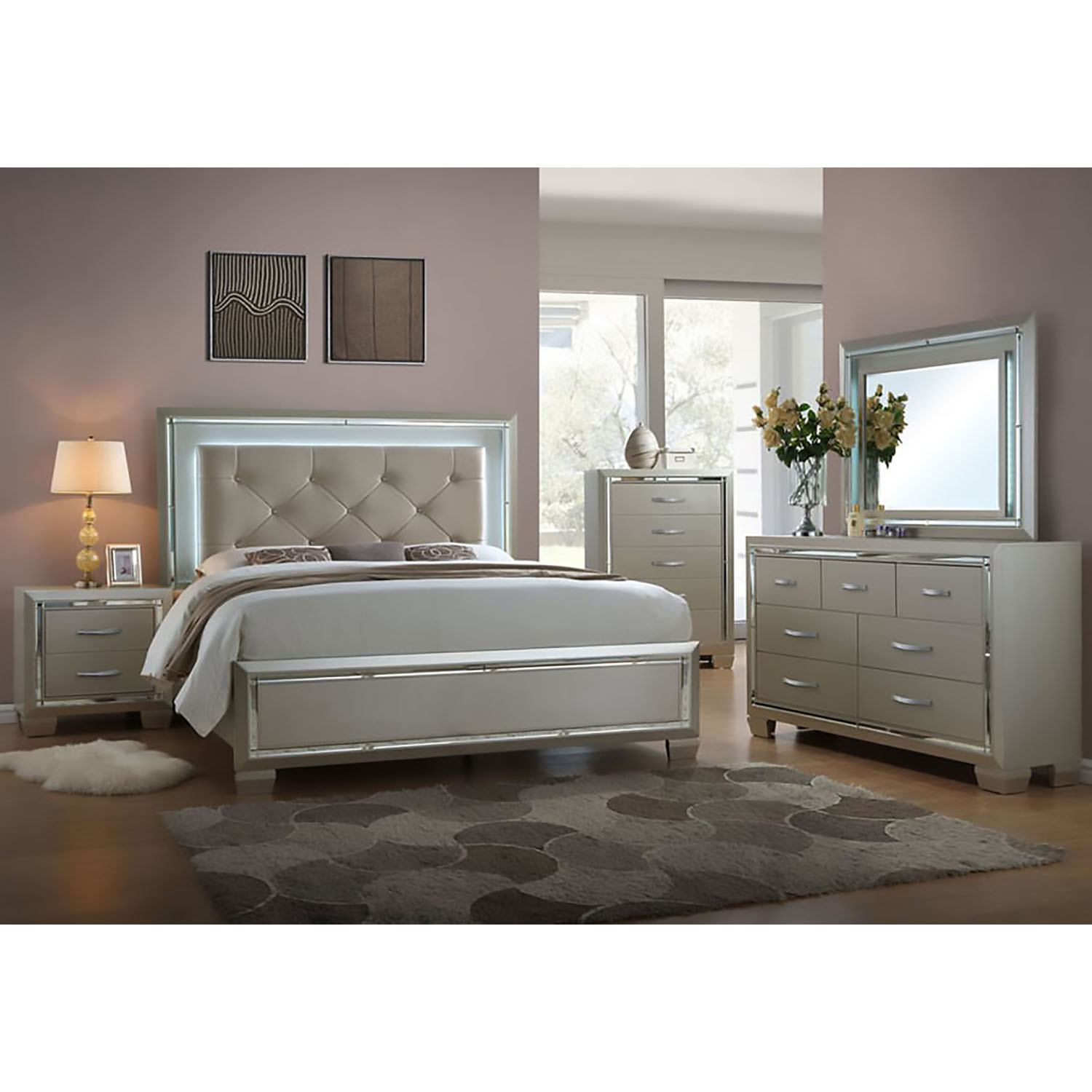 Elegance 5pc full size bedroom suite 98117a5f1 cm - Suite cm ...
