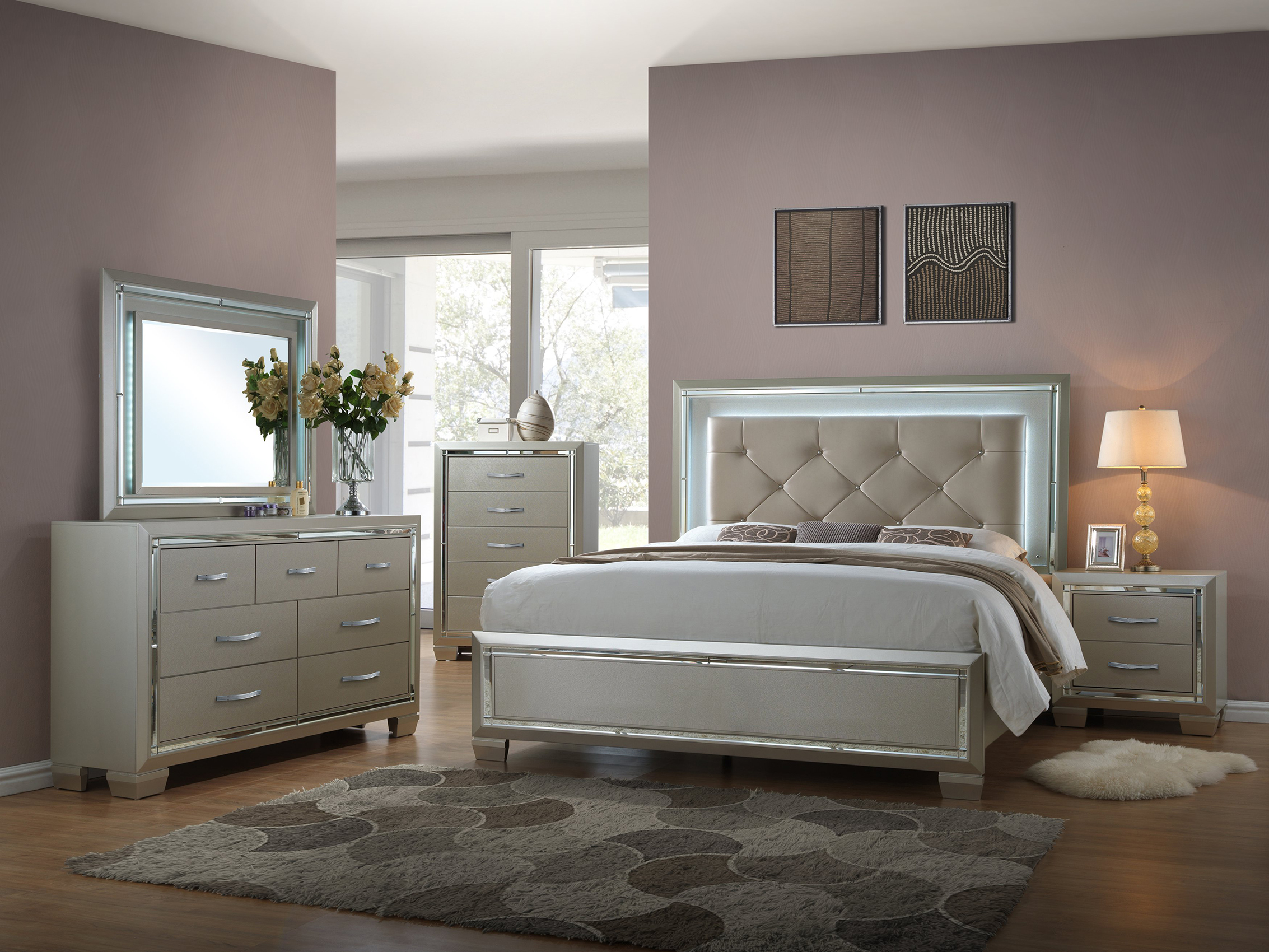 Elegance Full Size Bed Frame With Slide Out Trundle