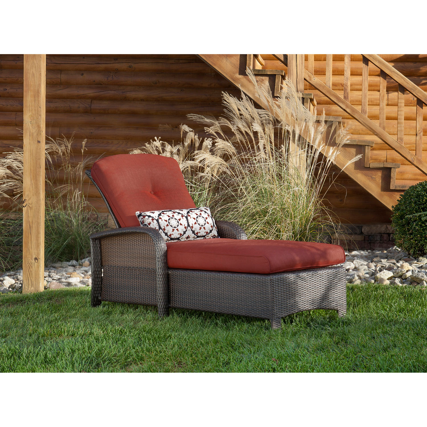 strathmere luxury chaise in crimson red strathchsred