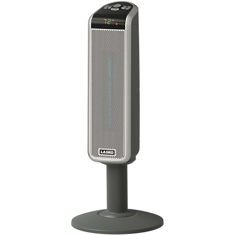 Lasko Space Saving Ceramic Pedestal Heater With Remote