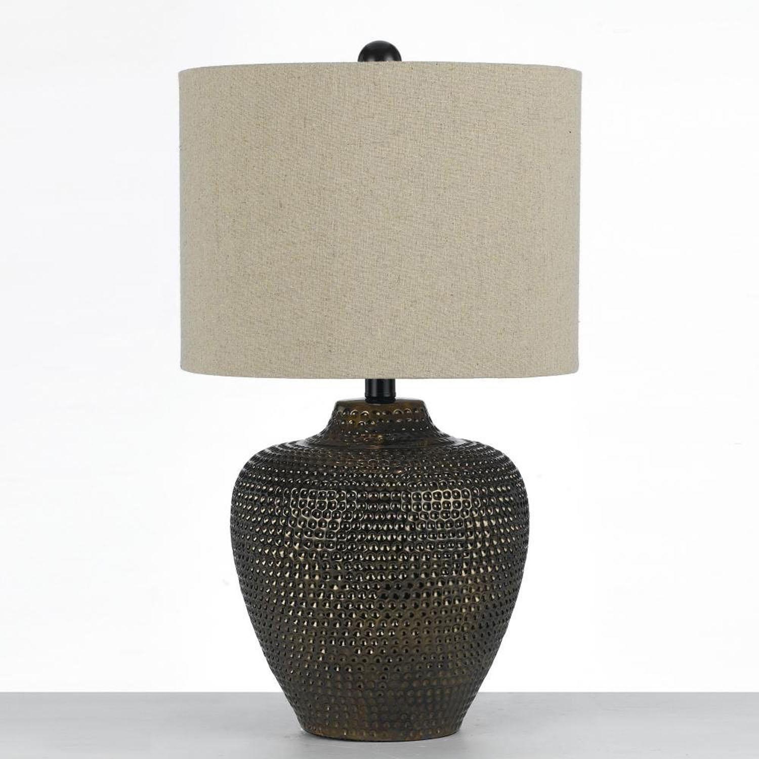 Danbury Ceramic Table Lamp Brown 8559 Tl