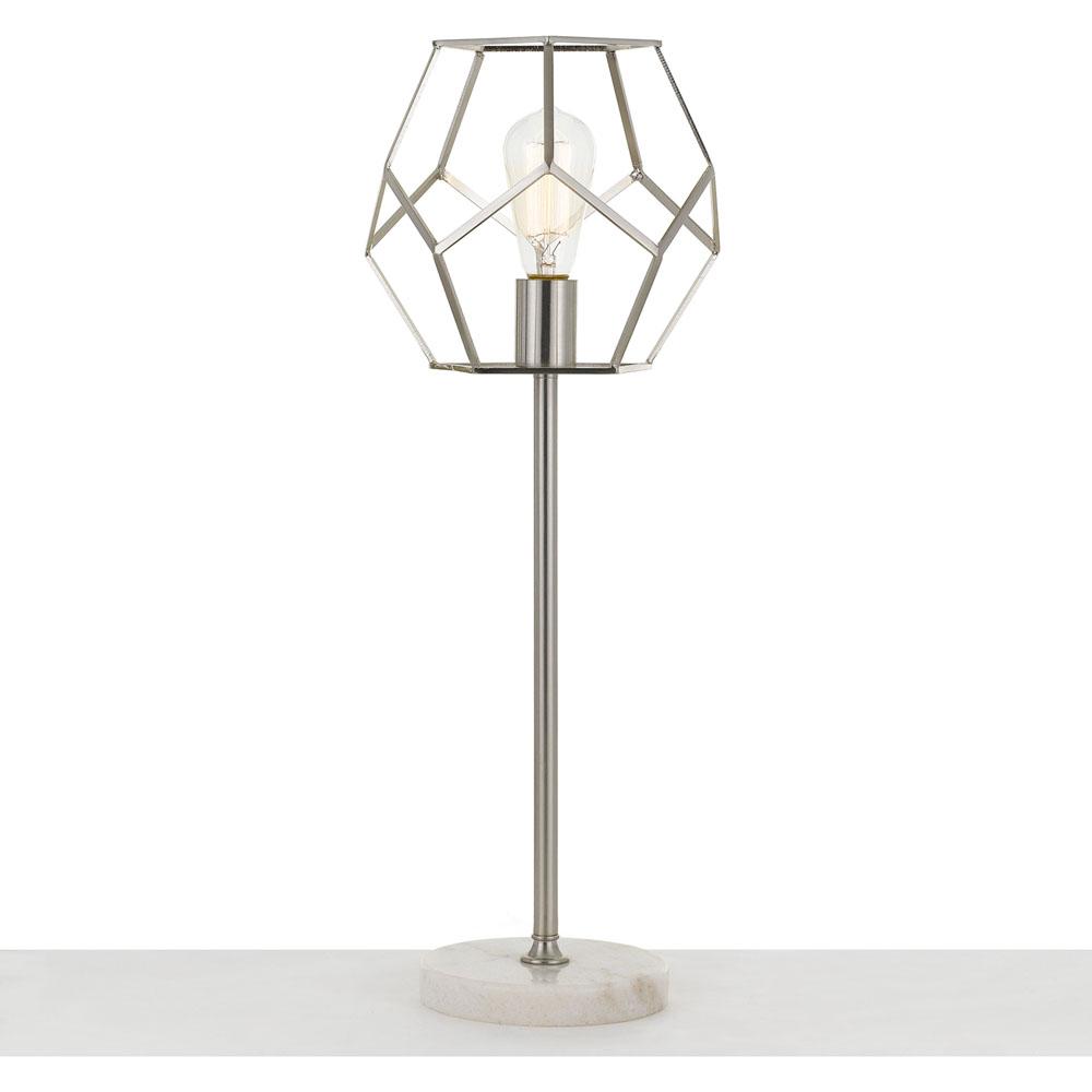 af lighting bellini table lamp in brushed nickel