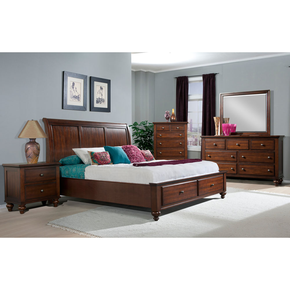 newport storage five piece bedroom suite king bed
