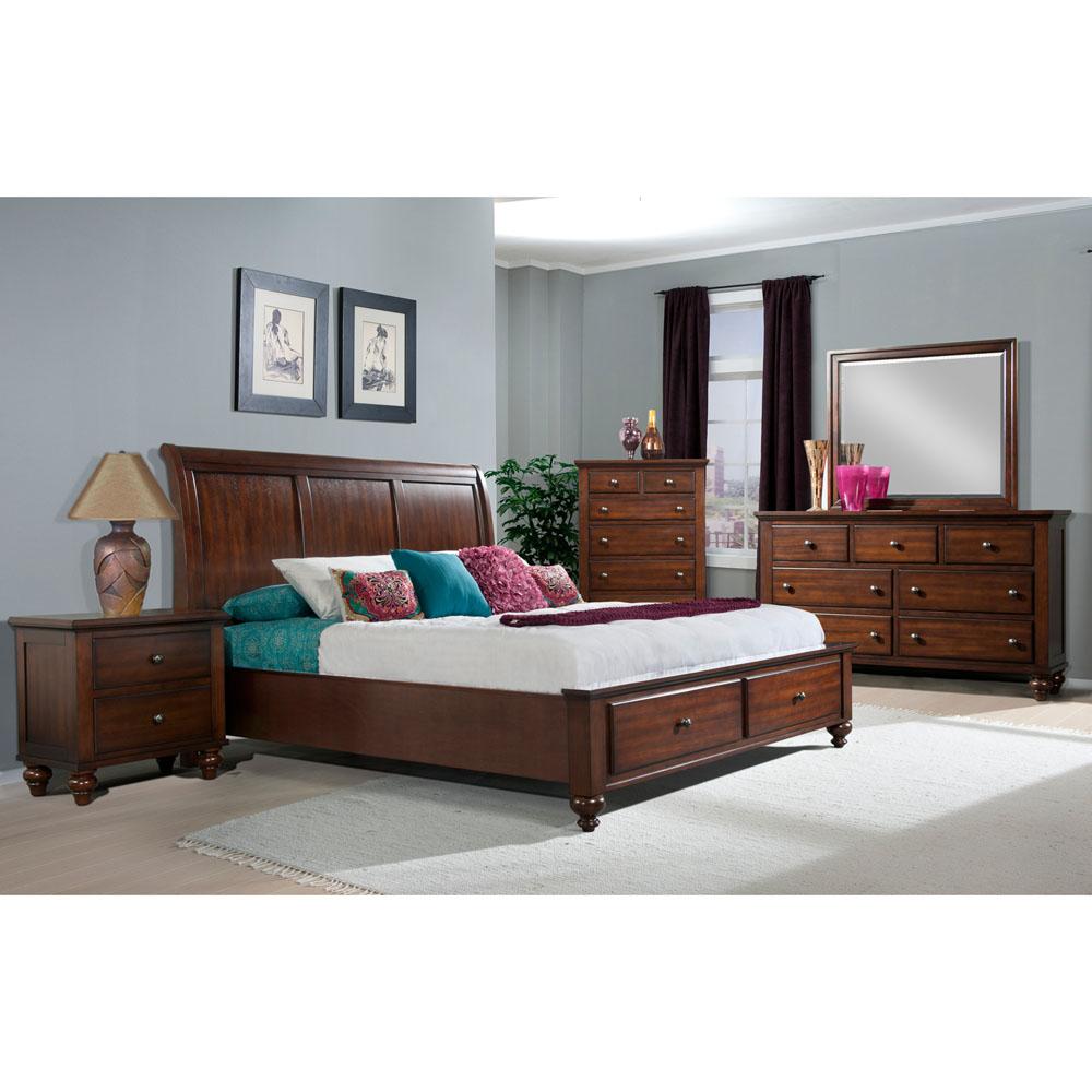 newport storage five piece bedroom suite king bed dresser mirror chest nightstand. Black Bedroom Furniture Sets. Home Design Ideas