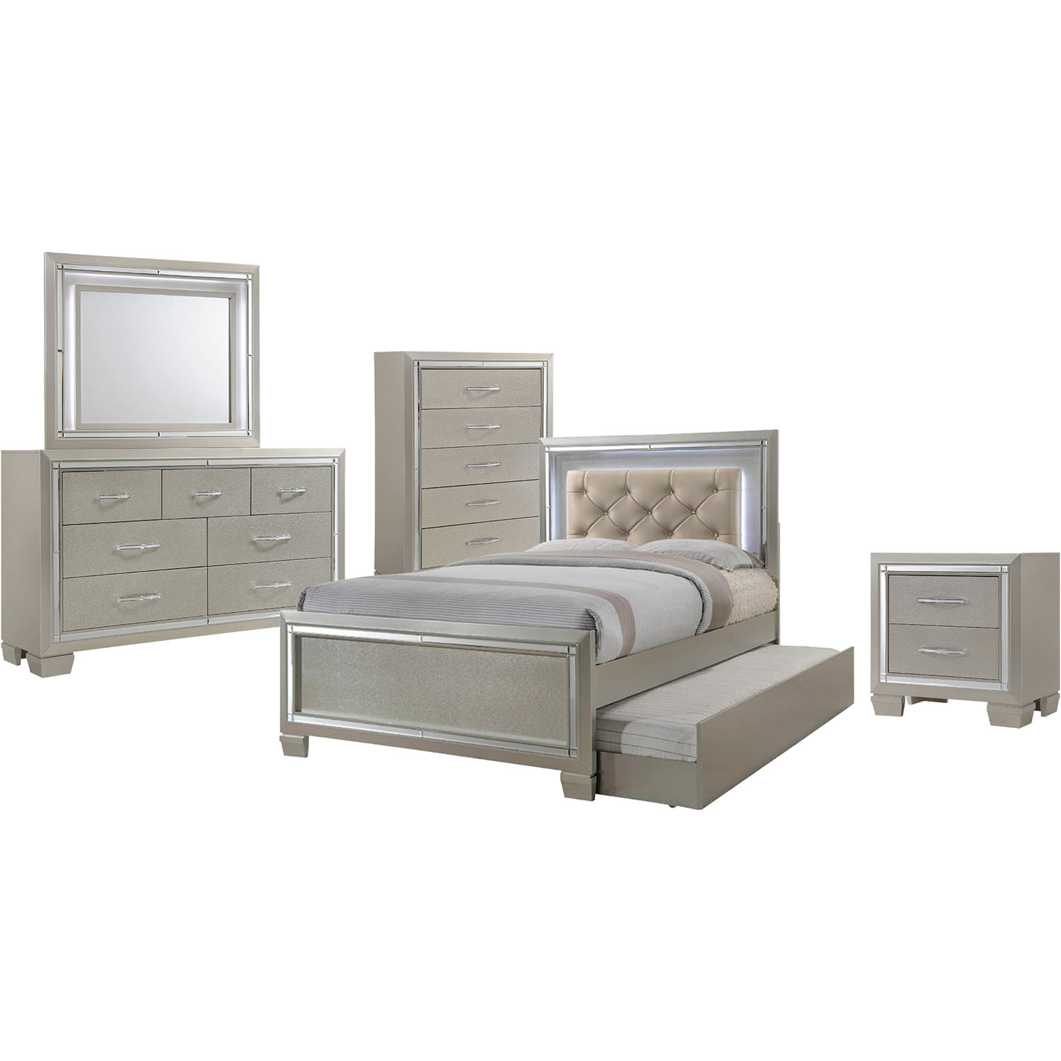 elegance 5pc full size bedroom suite 98117a5ft1 cm