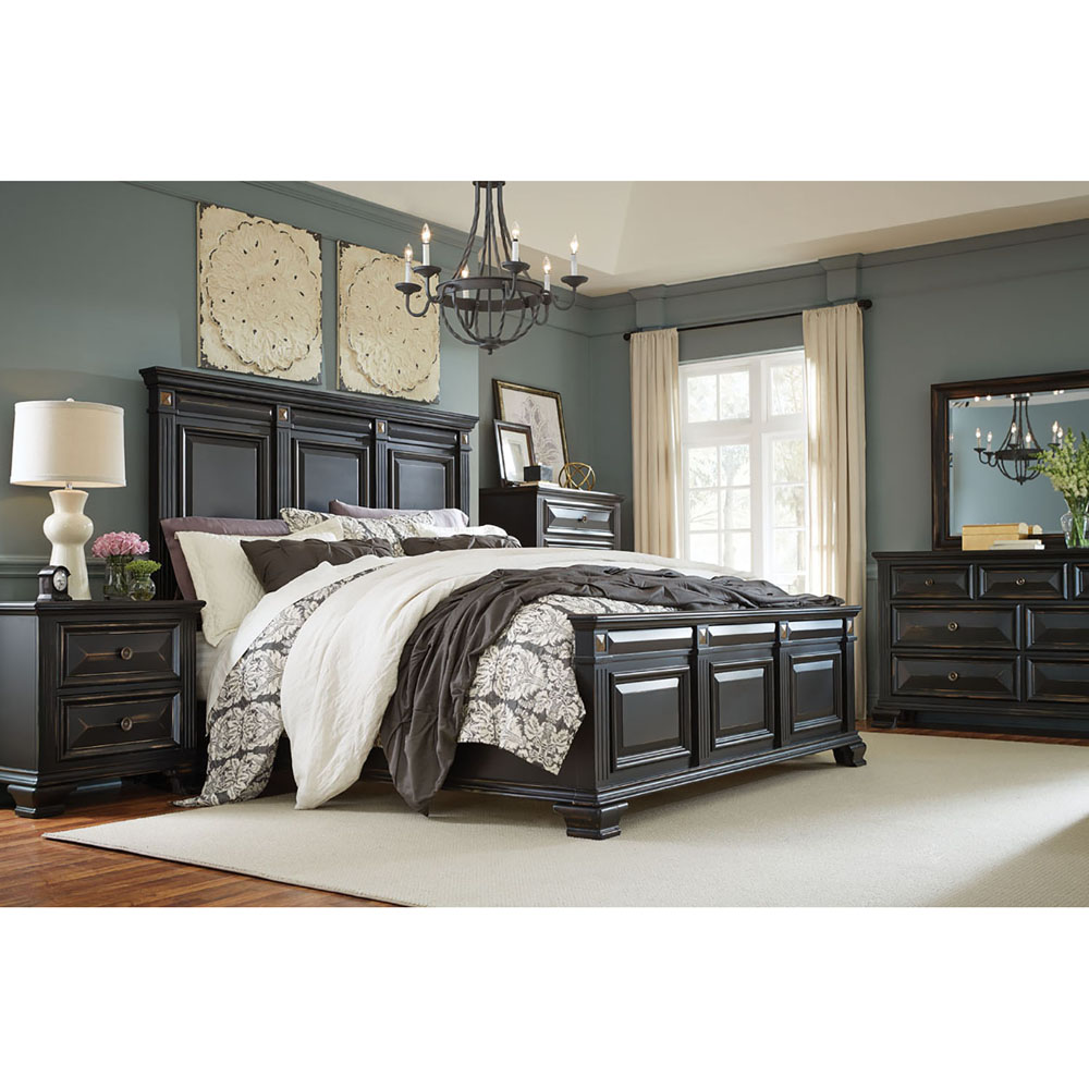 Cambridge Heritage 5pc Bedroom Suite King Bed Dresser Mirror Chest And Nightstand