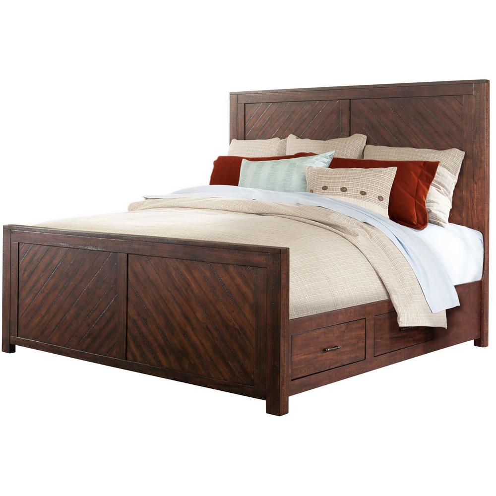 Cambridge Montana Storage 5 Piece Bedroom Suite: Queen Size Bed,Dresser, Mirror,Chest And Nightstand   98127A5Q1 WA