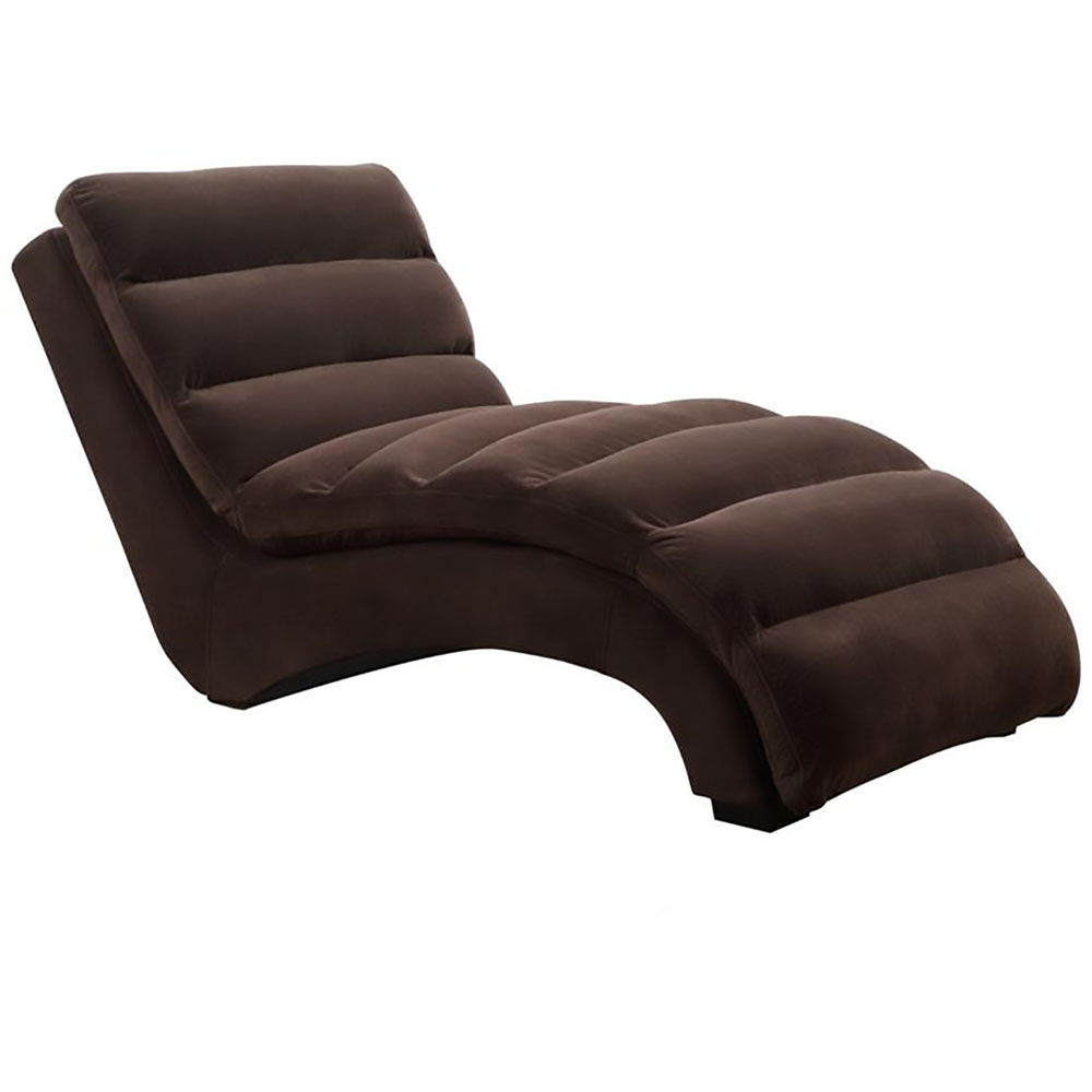 savannah microfiber chaise lounge in chocolate 981701 co