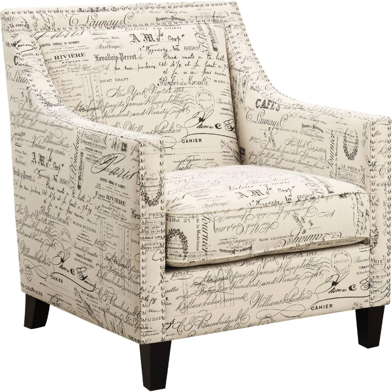 Cambridge Bridgehampton Accent Chair With Nailhead Trim In French Script 981704