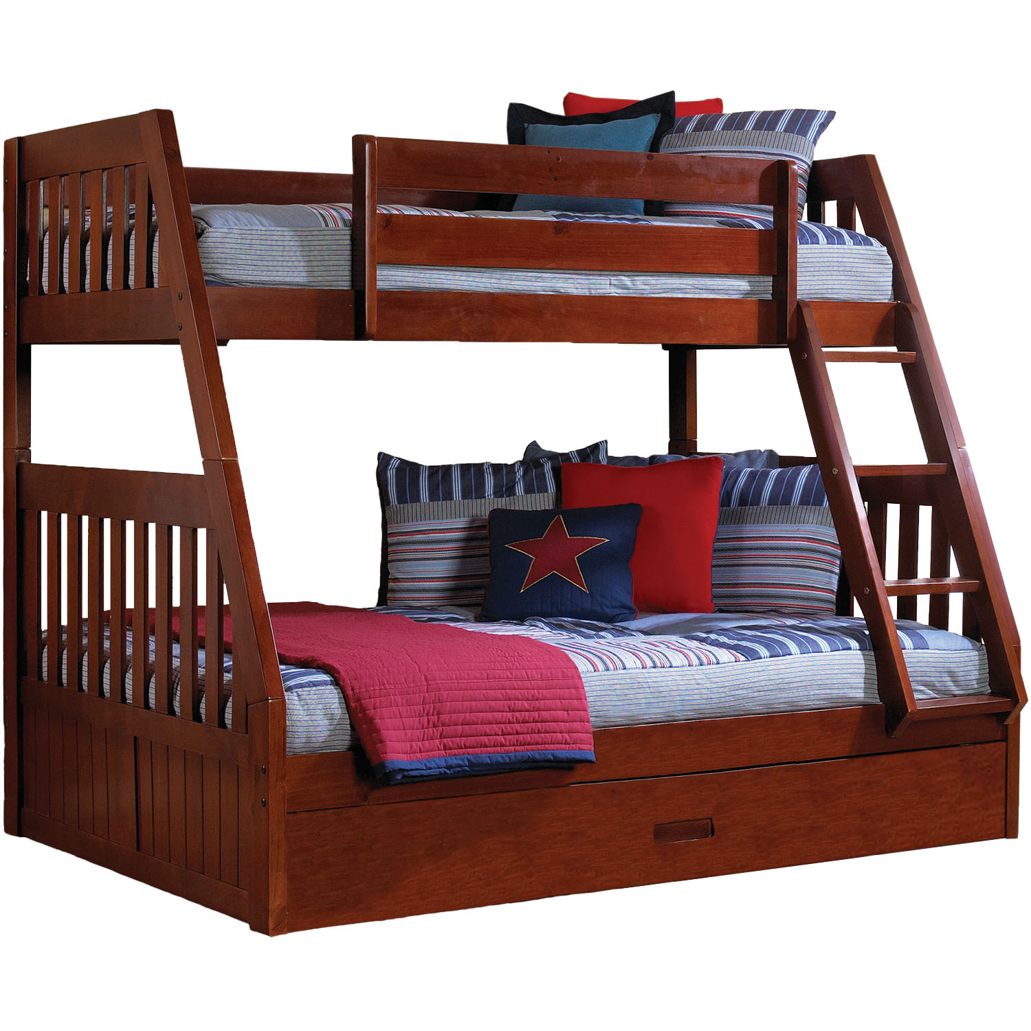 Stanford Twin Over Full Bunk Bed With Twin Trundle
