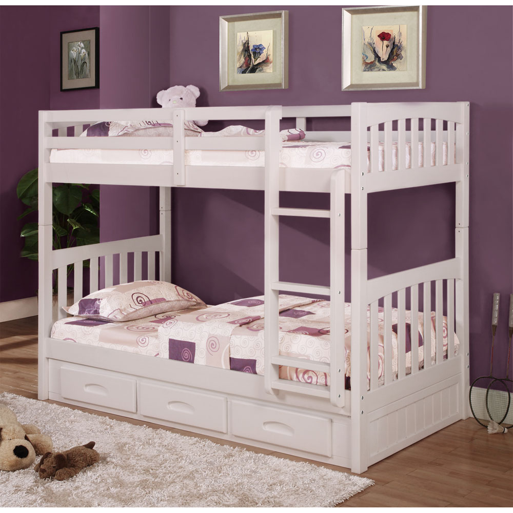 Braeburn Twin Over Twin Bunk Bed With Slide Out Trundle