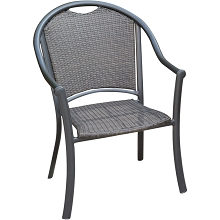 Hanover Commercial Woven Aluminum Dining Chair, BAMDNCHR-1GM
