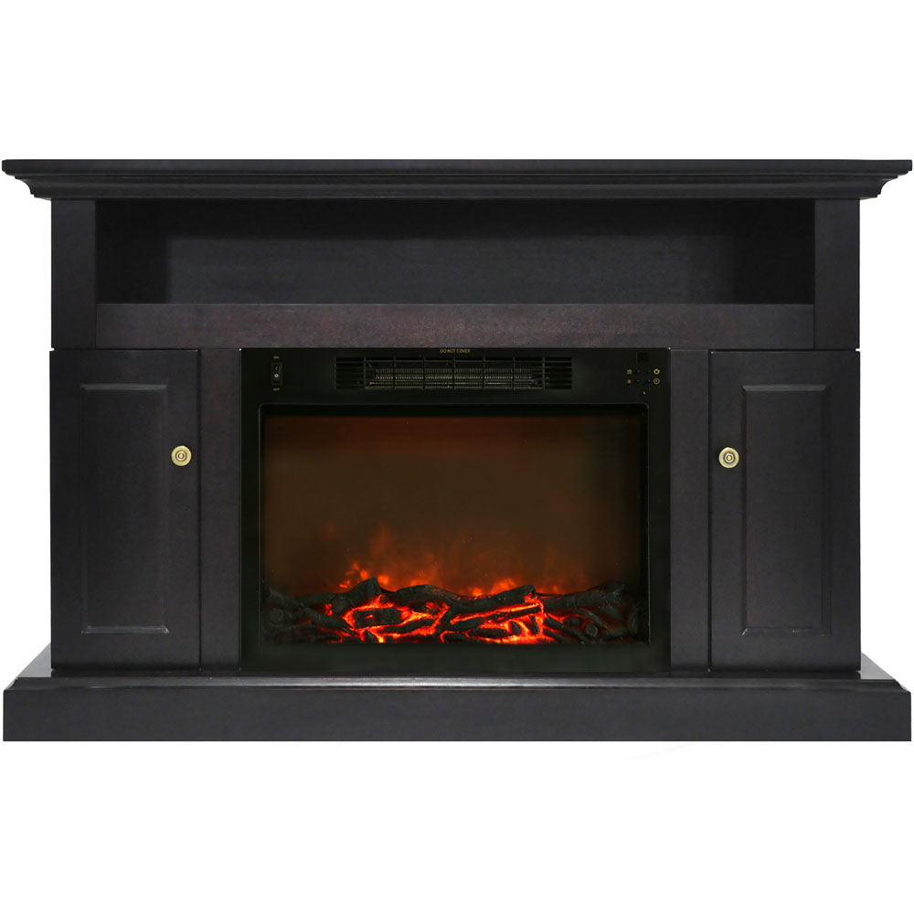 Cambridge Sorrento Electric Fireplace With 1500w Log Insert And 47 In Entertainment Stand In