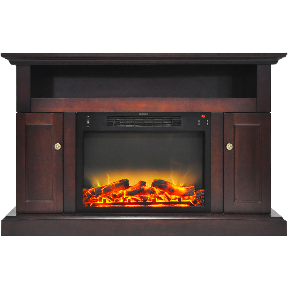 Cambridge sorrento electric fireplace with an enhanced log for Handy heater italia opinioni