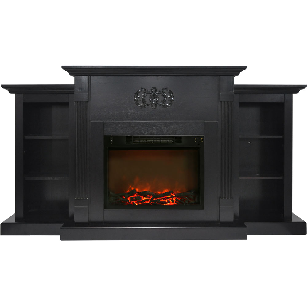 cambridge sanoma 72 in electric fireplace in black coffee