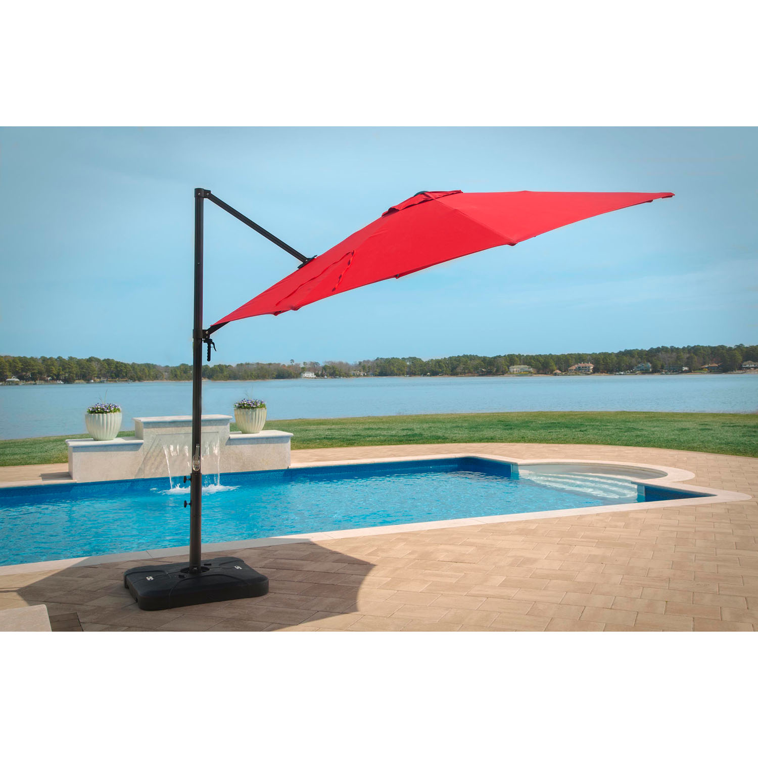 Cantilever Umbrella In Red Cantilever Red