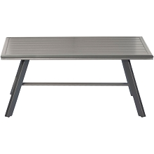 Hanover All-Weather Commercial-Grade Aluminum Slat-Top Coffee Table, CMCOFTBL-GM