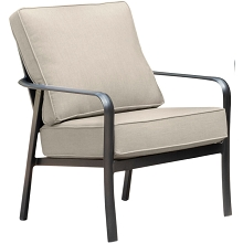 Hanover Cortino Commercial-Grade Aluminum Club Chair with Plush Sunbrella Cushions, CORTSDCHR-1GMASH