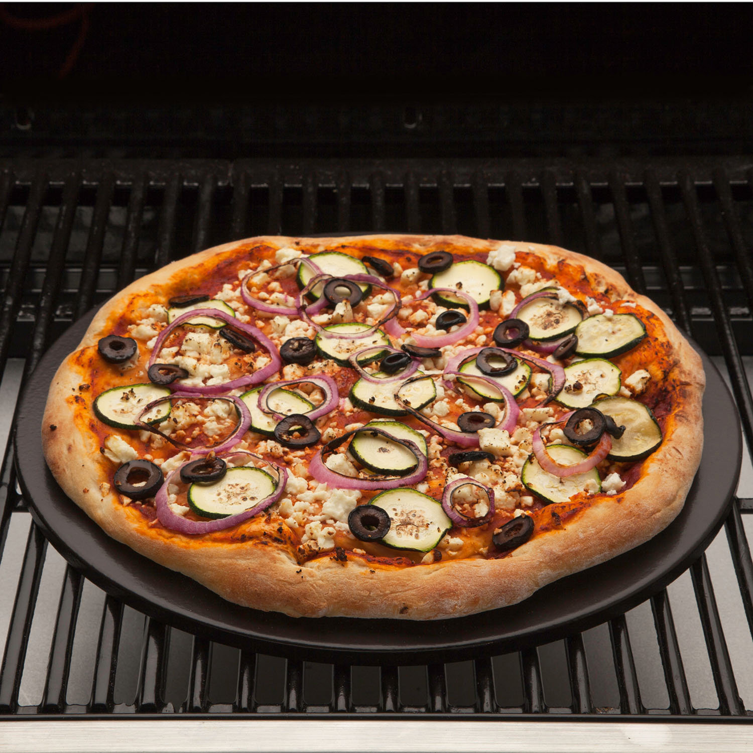 Ceramic Stones For Bbq : Cuisinart alfrescamore ceramic glazed cordierite pizza