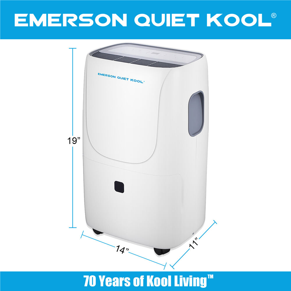 Emerson Quiet Kool 50 Pint Dehumidifier With Built In