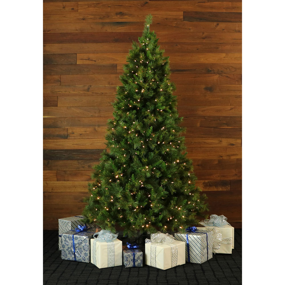 7.5 Ft. Canyon Pine Christmas Tree With Clear LED Lighting