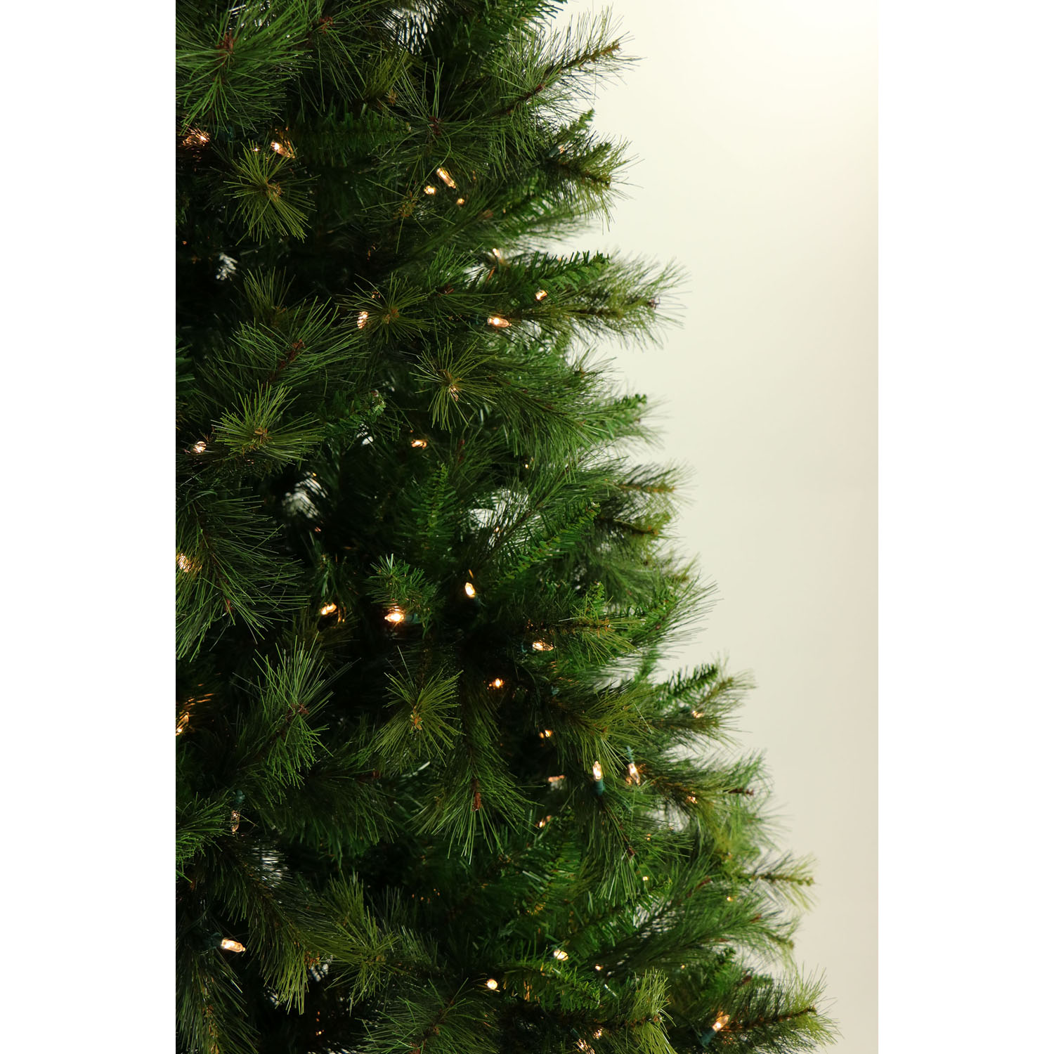 7.5 Ft. Canyon Pine Christmas Tree with Multi-Color LED String ...
