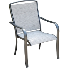 Hanover Foxhill All-Weather Commercial-Grade Aluminum Dining Chair with Sunbrella Sling Fabric, FOXHLDNCHR-1GM