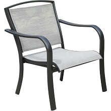Hanover Foxhill All-Weather Commercial-Grade Aluminum Lounge Chair with Sunbrella Sling Fabric, FOXHLSDCHR-1GMASH