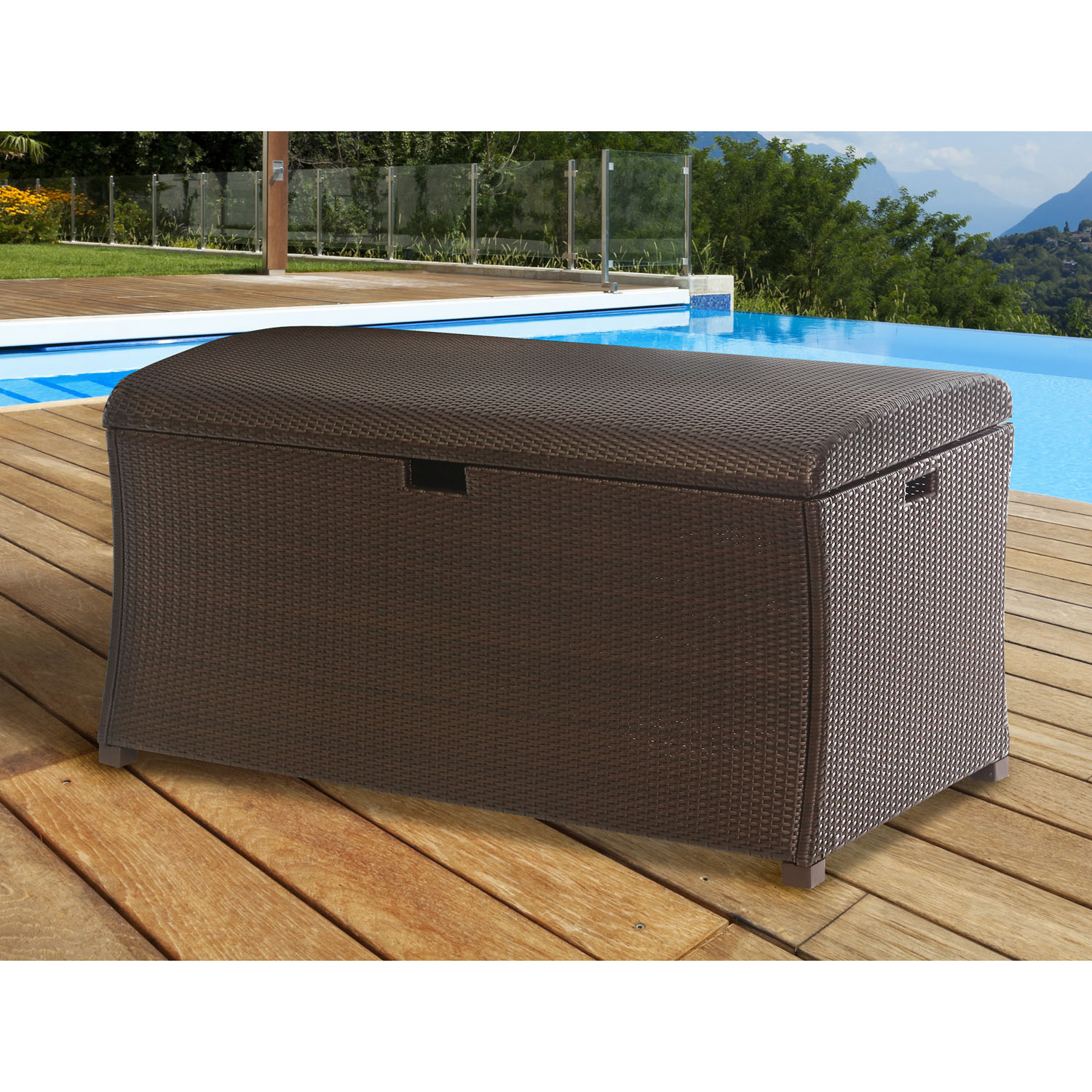 Large Resin Deck Box For Outdoor Storage Han Lgtrunk