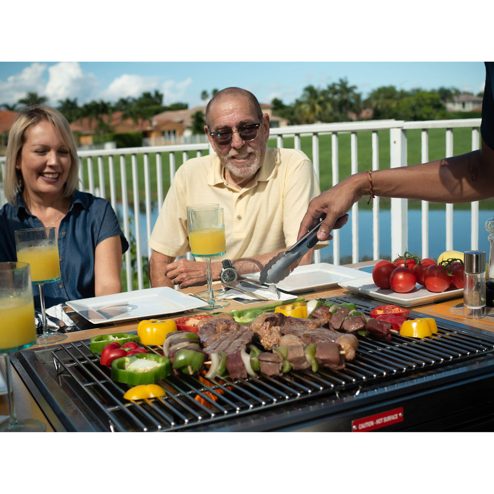 My Hibachi Bbq 3 In 1 Sit Around Grill With Flat Top