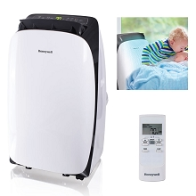 Portable Air Conditioner with Dehumidifier & Fan for Rooms Up To 550 Sq. Ft. with Remote Control (Black/White) - HL12CESWK