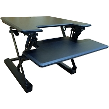 Hanover 27-In. Wide Black Tabletop Sit or Stand Lift Desk with Adjustable Height for Offices, Schools, and Writing Stations, HSD0401-BLK