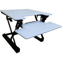 Hanover 27-In. Wide White Tabletop Sit or Stand Lift Desk with Adjustable Height for Offices, Schools, and Writing Stations, HSD0401-WHT