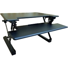 Hanover 35-In. Wide Black Tabletop Sit or Stand Lift Desk with Adjustable Height for Offices, Schools, and Writing Stations, HSD0402-BLK