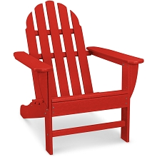Hanover Classic All-Weather Adirondack Chair in Sunset Red, HVAD4030SR