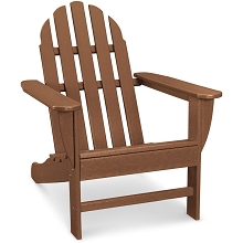 Hanover Classic All-Weather Adirondack Chair in Teak, HVAD4030TE