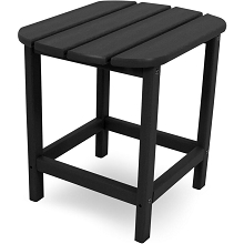 Hanover All-Weather Side Table in Black, HVSBT18BL