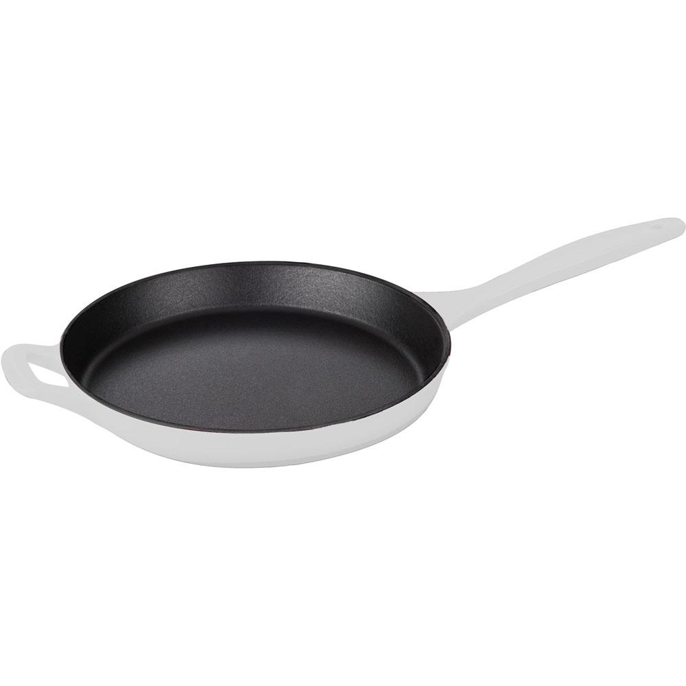 la cuisine 5pc enameled cast iron cookware set in white round casserole lc 2680. Black Bedroom Furniture Sets. Home Design Ideas