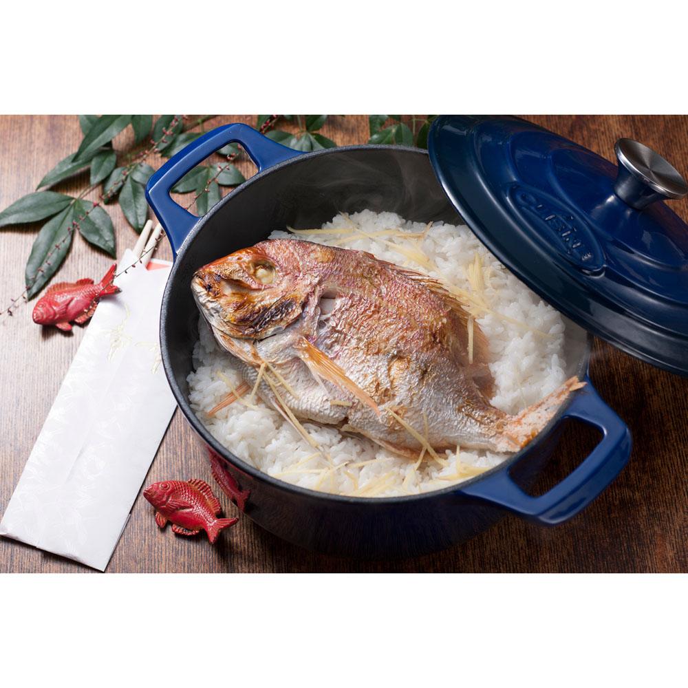 La cuisine pro 6pc enameled cast iron cookware set in blue for Four cuisine pro