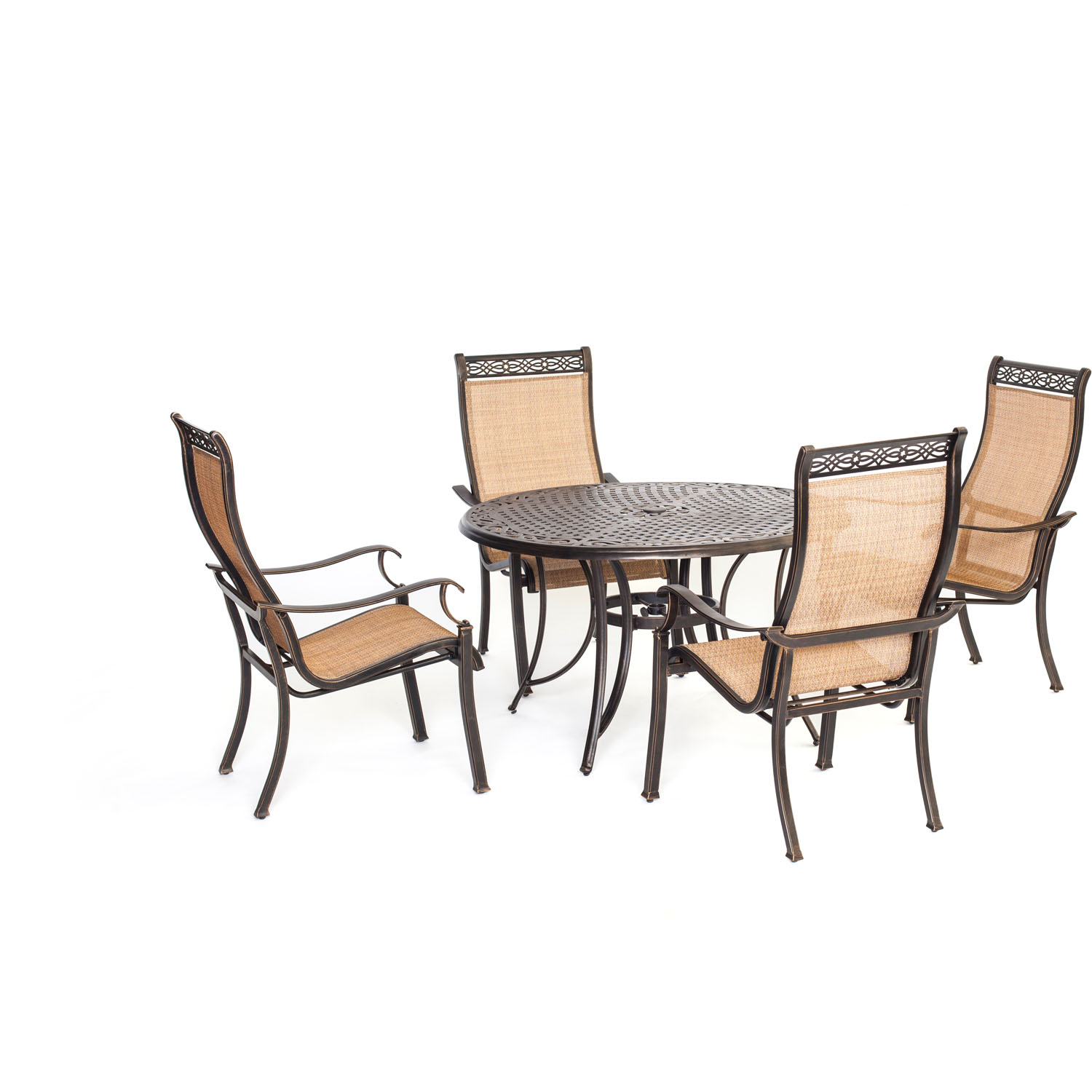 Manor 5pc outdoor dining set mandn5pc for Outdoor dining sets for 4