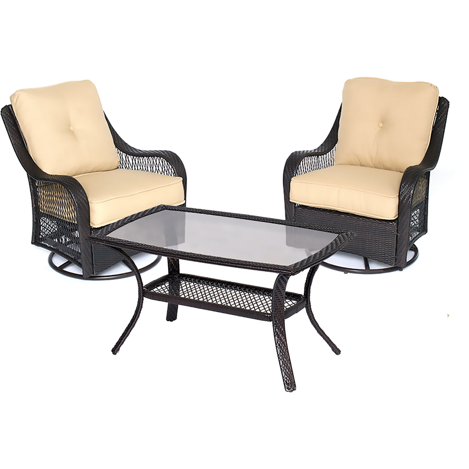 Orleans 3PC Patio Chat Set in Sahara Sand - ORLEANS3PCSWCT ...
