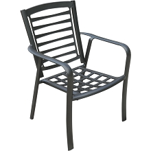 Hanover Pemberton Commercial-Grade Aluminum Stackable Dining Chair, PEMDNCHR-1GM