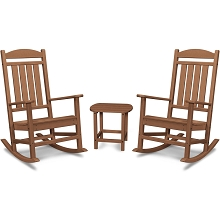 Hanover Pineapple Cay All-Weather Porch Rocking Chair Set with 2 Rockers and an 19