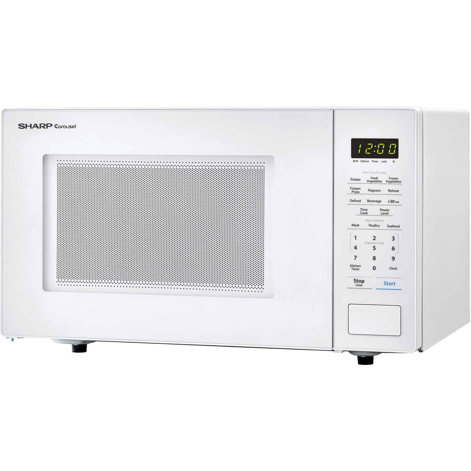 Sharp Carousel 1 Cu Ft 1000w Countertop Microwave Oven In White Smc1131cw