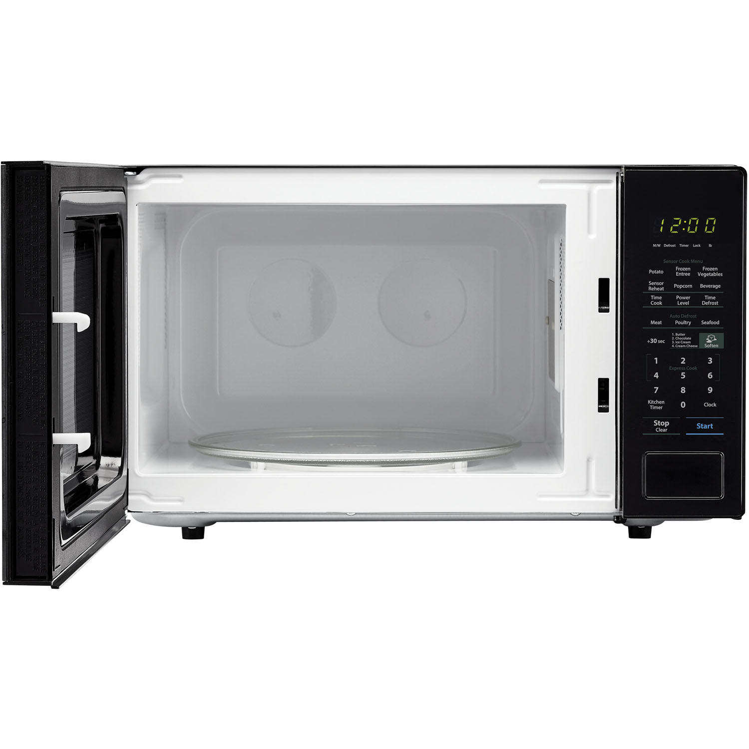 Sharp Carousel 1 4 Cu Ft 1000w Countertop Microwave Oven In Black Smc1441cb