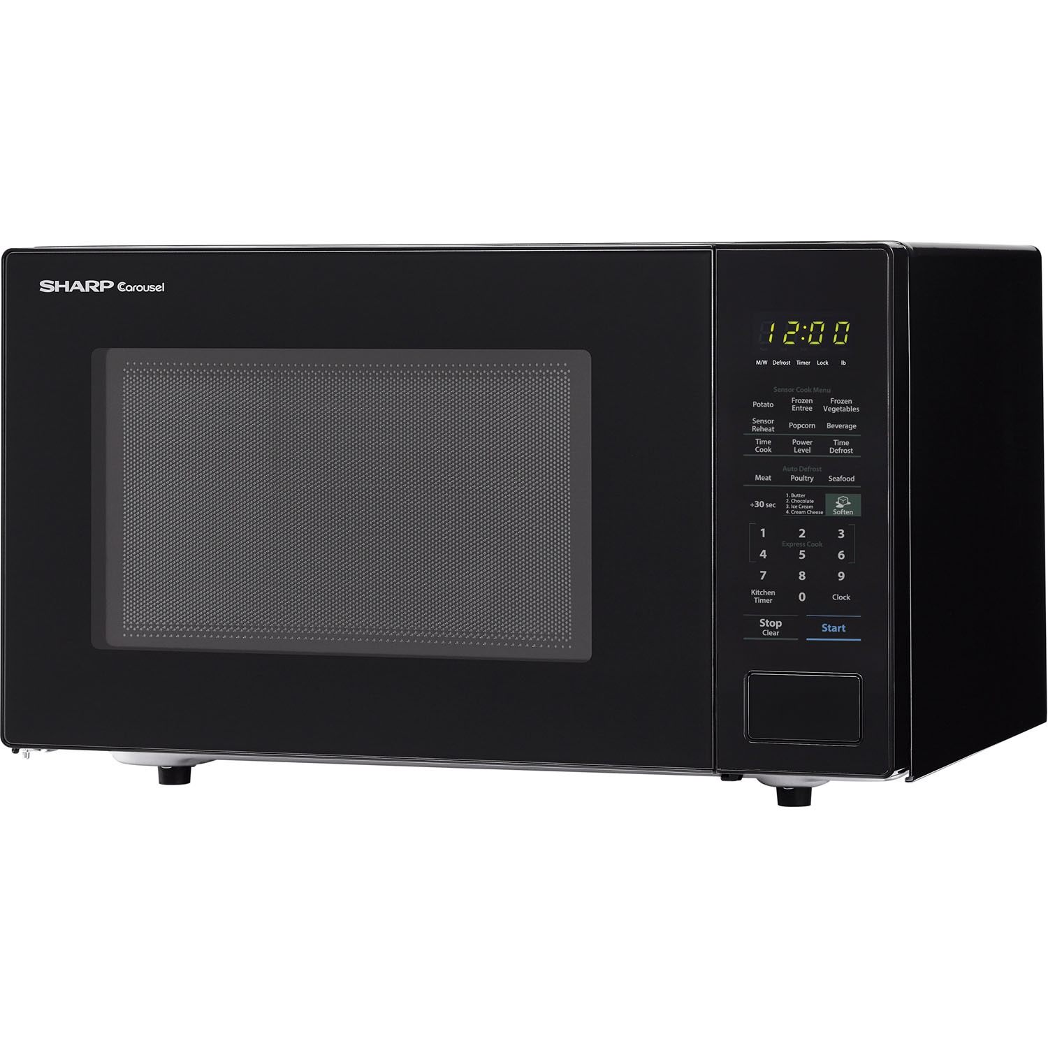 Sharp Carousel 1 4 Cu Ft 1000w Countertop Microwave Oven