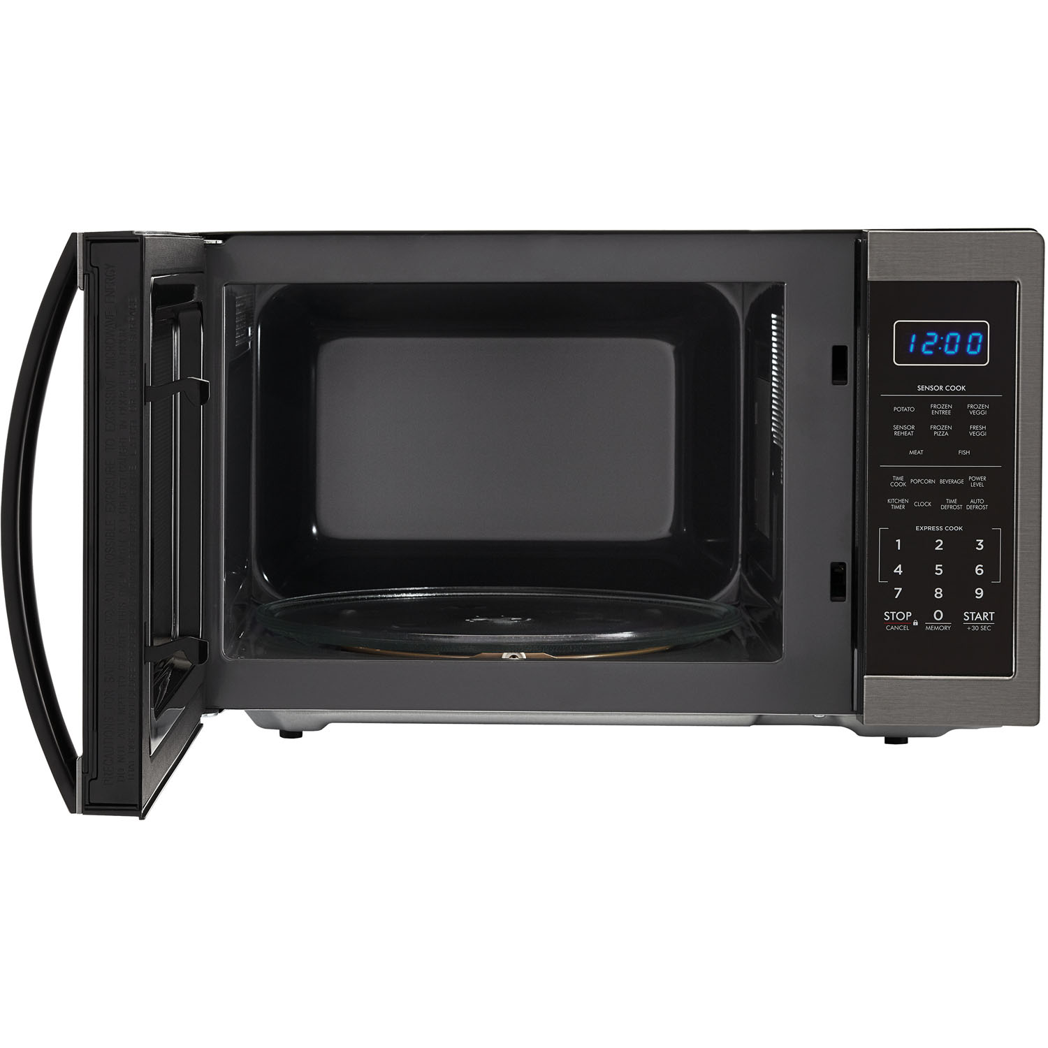 Ft 1100w Countertop Microwave Oven In Black Stainless Steel Smc1452ch
