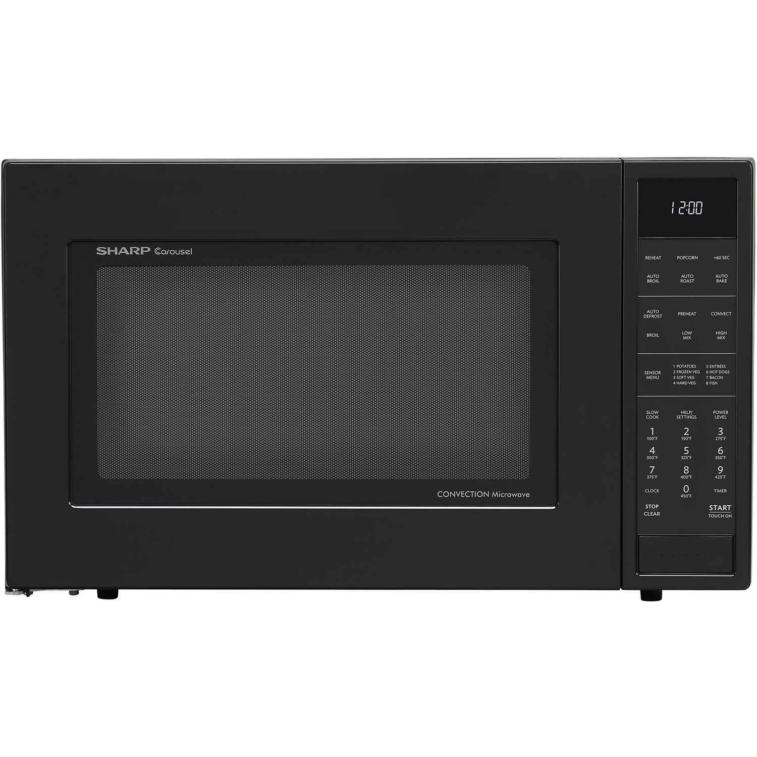 sharp 1 5 cu ft 900w convection microwave oven in black. Black Bedroom Furniture Sets. Home Design Ideas