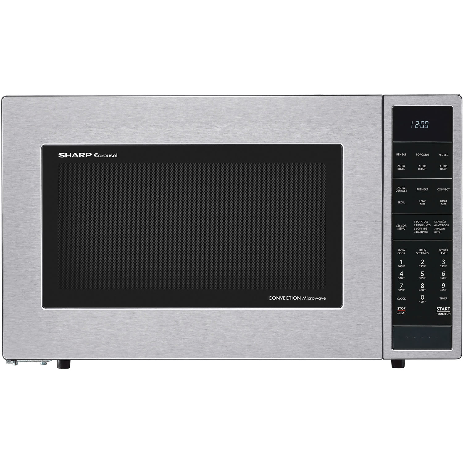 sharp 1 5 cu ft 900w convection microwave oven in. Black Bedroom Furniture Sets. Home Design Ideas
