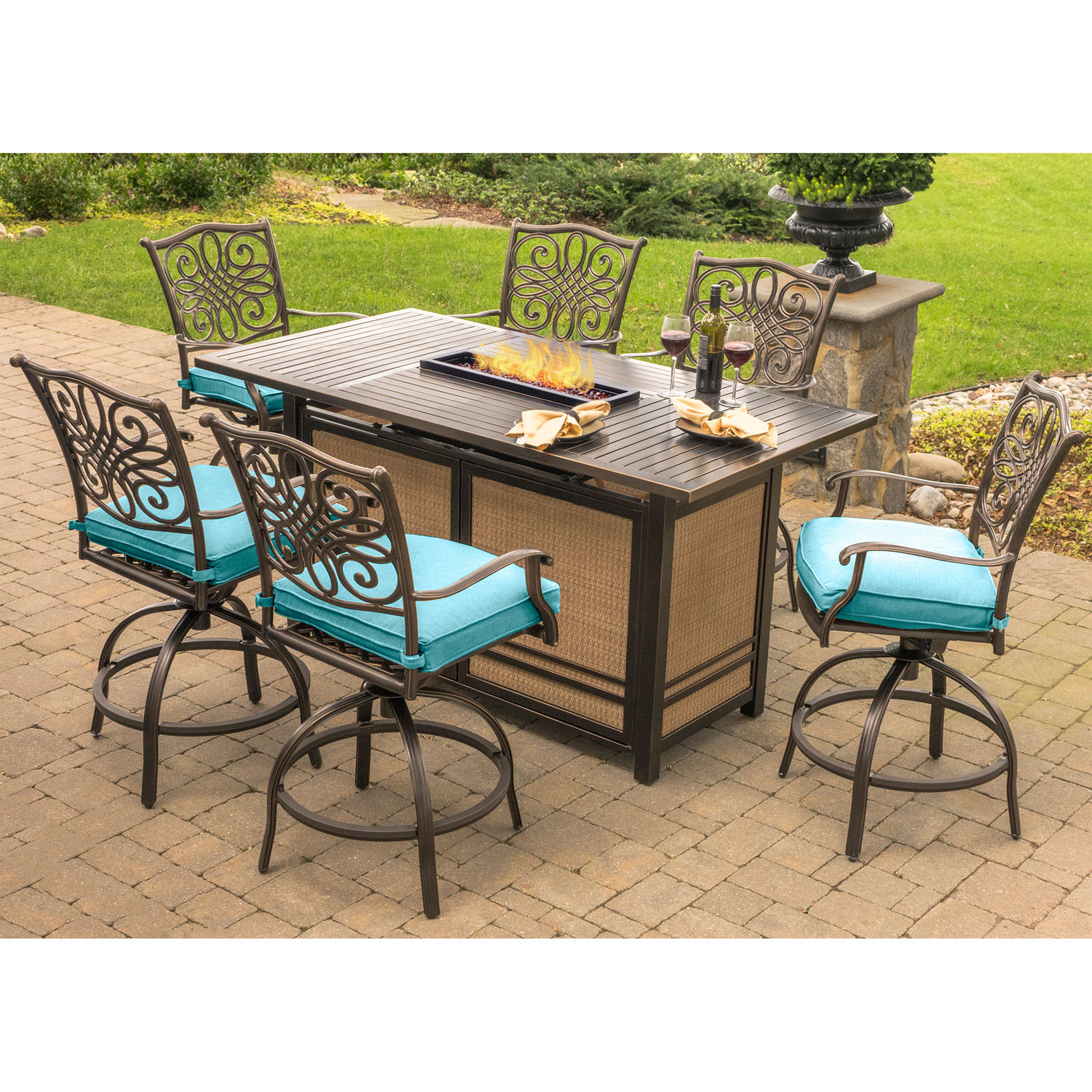 Traditions 7 Piece High Dining Set